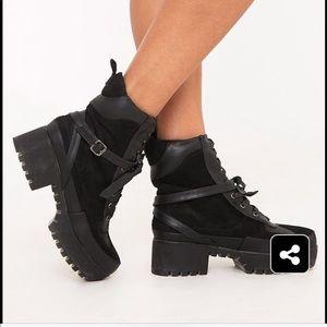 Pretty little thing Karmel Biker boots. Size 8